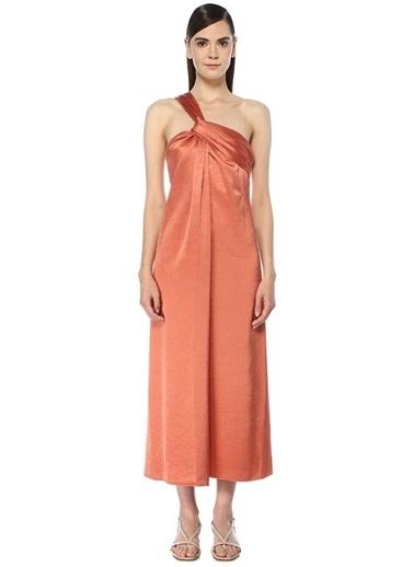Nanushka Nanushka Zena  Tek Askılı Midi Elbise 101534251 Pembe